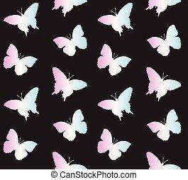 El vector no tiene forma de mariposa holográfica