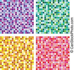 El vector no tiene patrón mosaico