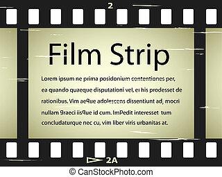 El vector rayó la cinta de cine