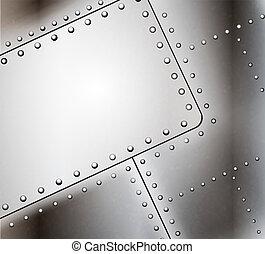 El vector recortó fondo de metal