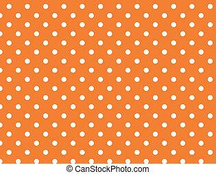 El vector tiene 8 lunares naranjas