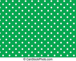 El vector tiene 8 puntos verdes
