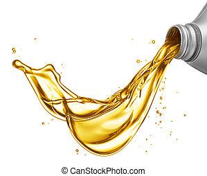 el verter, aceite