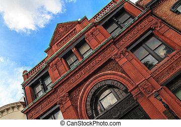 El viejo edificio de intercambio de algodón Savannah, Georgia