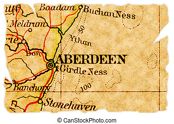 El viejo mapa de Aberdeen