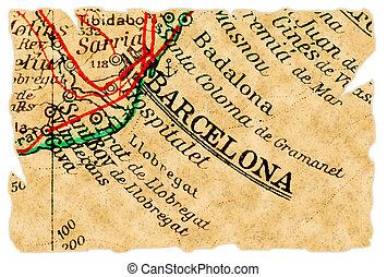 El viejo mapa de Barcelona