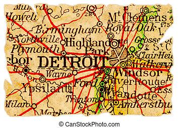 El viejo mapa de Detroit
