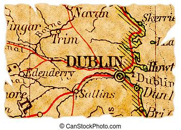 El viejo mapa de Dublín