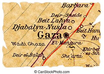 El viejo mapa de Gaza