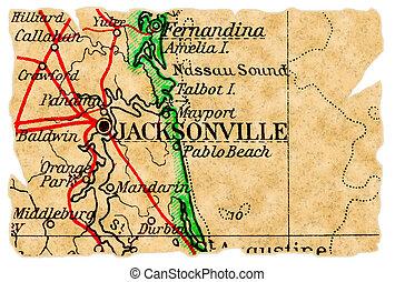 El viejo mapa de Jacksonville