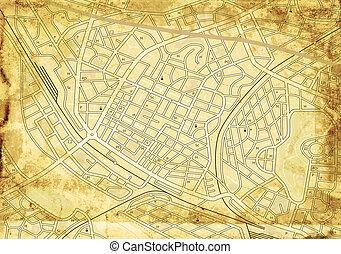 El viejo mapa de la calle