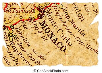 El viejo mapa de Mónaco