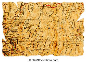 El viejo mapa de Nevada