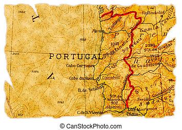 El viejo mapa de Portugal