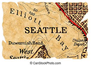 El viejo mapa de Seattle