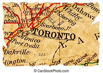 El viejo mapa de Toronto