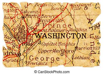 El viejo mapa de Washington