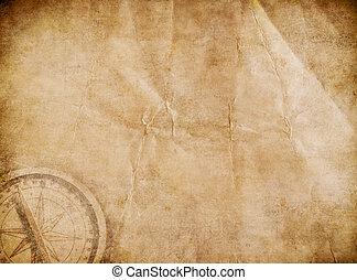 El viejo mapa del tesoro de los piratas