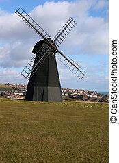 El viejo molino de viento de Inglaterra