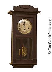 El viejo reloj anticuario grunge