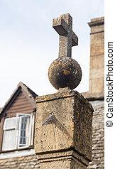 El viejo reloj de sol en Stanton Cotswolds