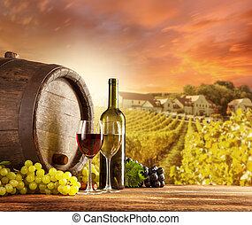 El vino todavía vive con el viñedo en el patio trasero