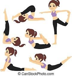 El yoga posa para chicas