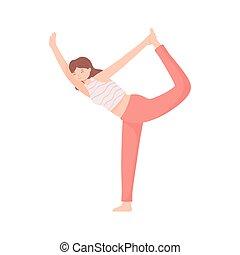 elaboración, mujer, yoga