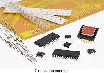 electrónica micro, tabla, elemento