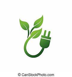 electricidad, energía, símbolo, enchufe, excepto