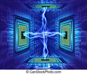 electricidad, procesador