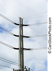 Electricidad trasfondo el cielo