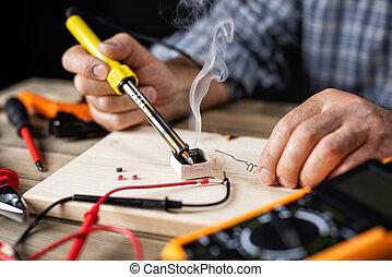 electricista, work., técnico, electronics.