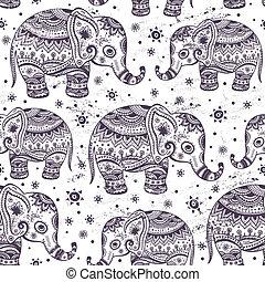 Elefante étnico sin costura