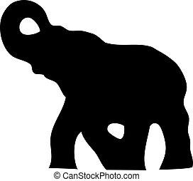 Elefante silueta
