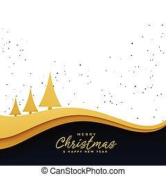 Elegante árbol de Navidad dorado hermoso fondo