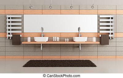 Elegante baño moderno