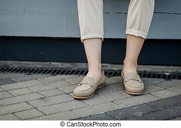 elegante, cómodo, shoes., hembra