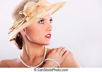 elegante, dama