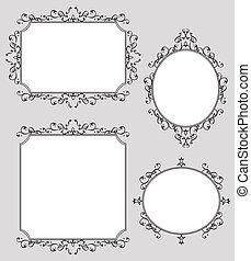 Elegante decoración de marcos ilustrados