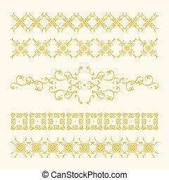 Elegante decoración dorada