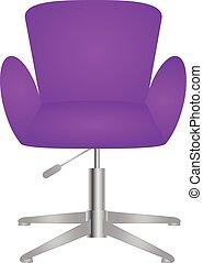 elegante, elegante, silla, moderno, cómodo