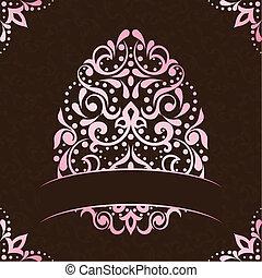 Elegante estandarte cuadrado en rosa