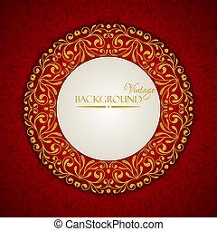 Elegante fondo vintage con adornos de encaje