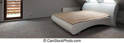 Elegante habitación gris