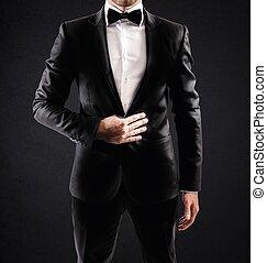 elegante, hombre de negocios