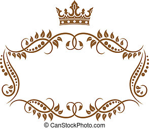 Elegante imagen real medieval con corona
