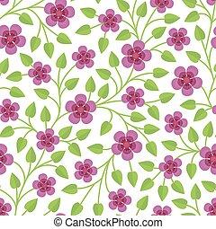 Elegante patrón floral sin costura