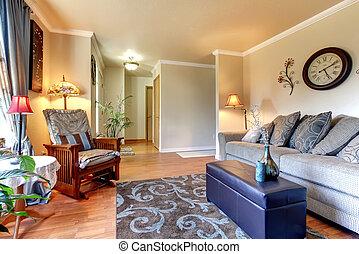 Elegante y simple diseño clásico de interiores.