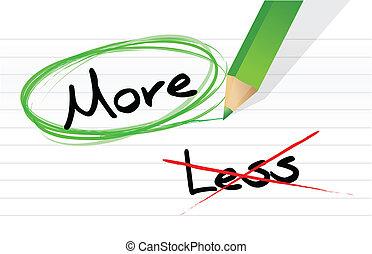 Elegir más en vez de menos.
